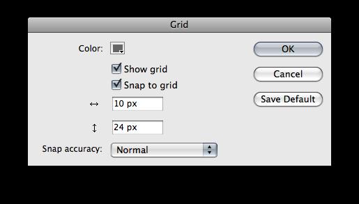 Flash grid preferences