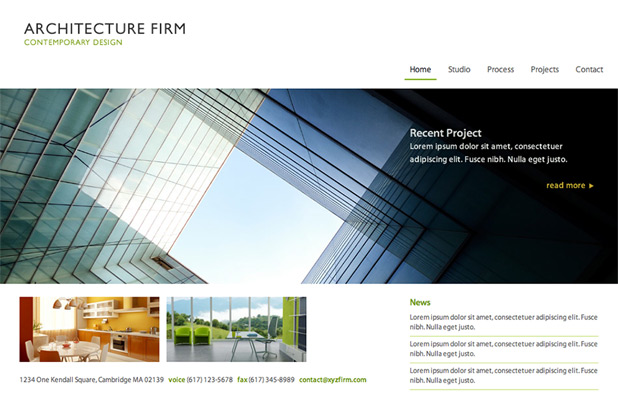 Architecture Firm ExpressionEngine theme