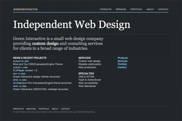 Green Interactive 2009 Design