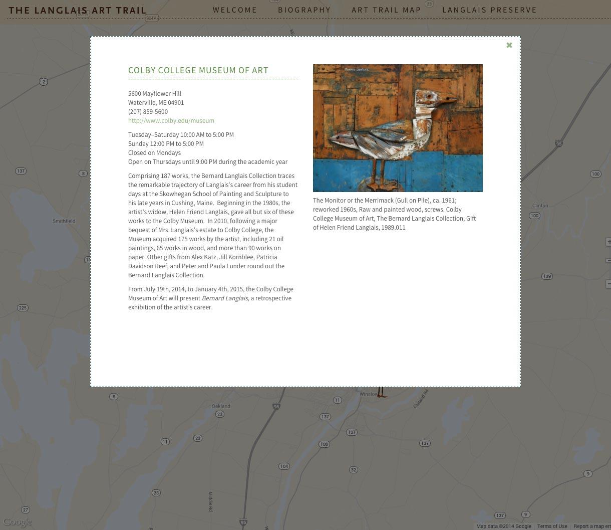 Langlais Art Trail detail