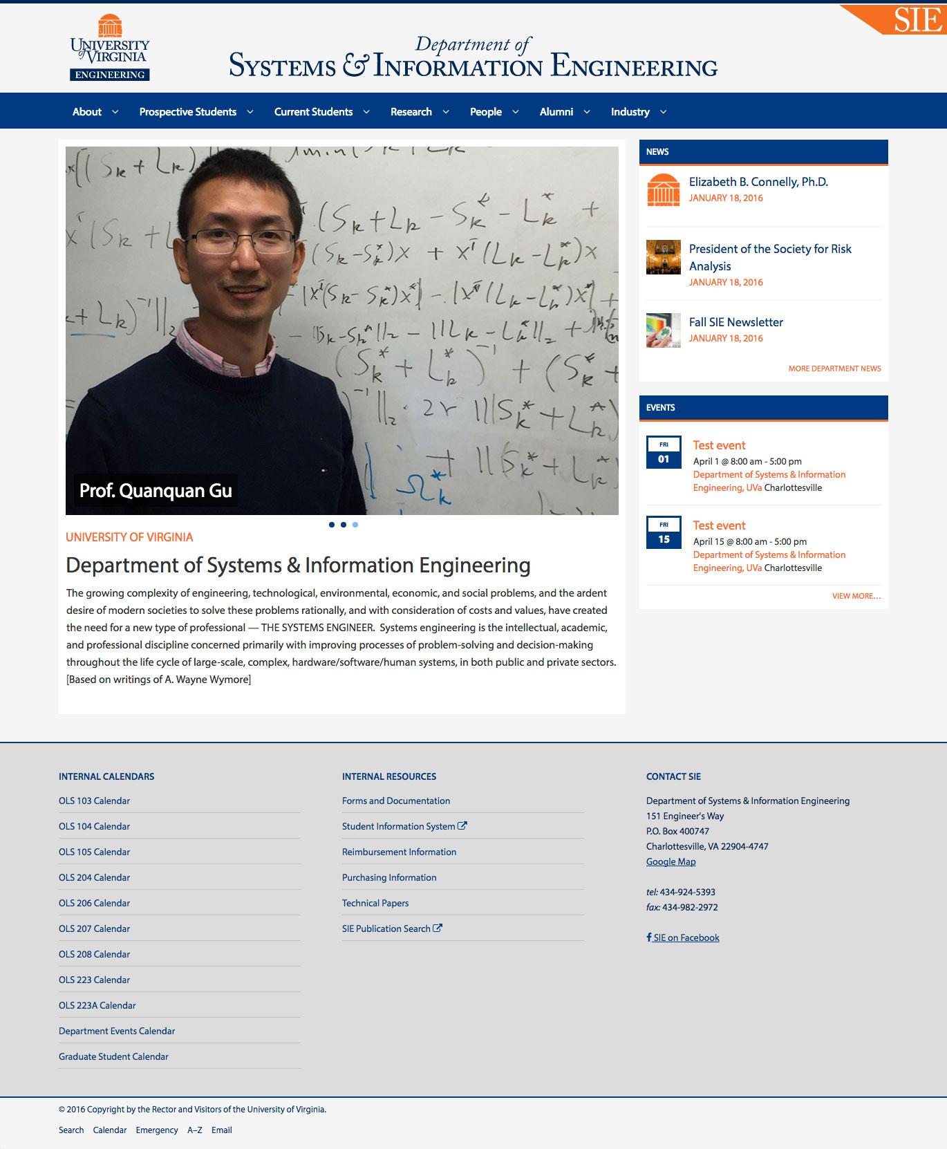 UVa SIE home page