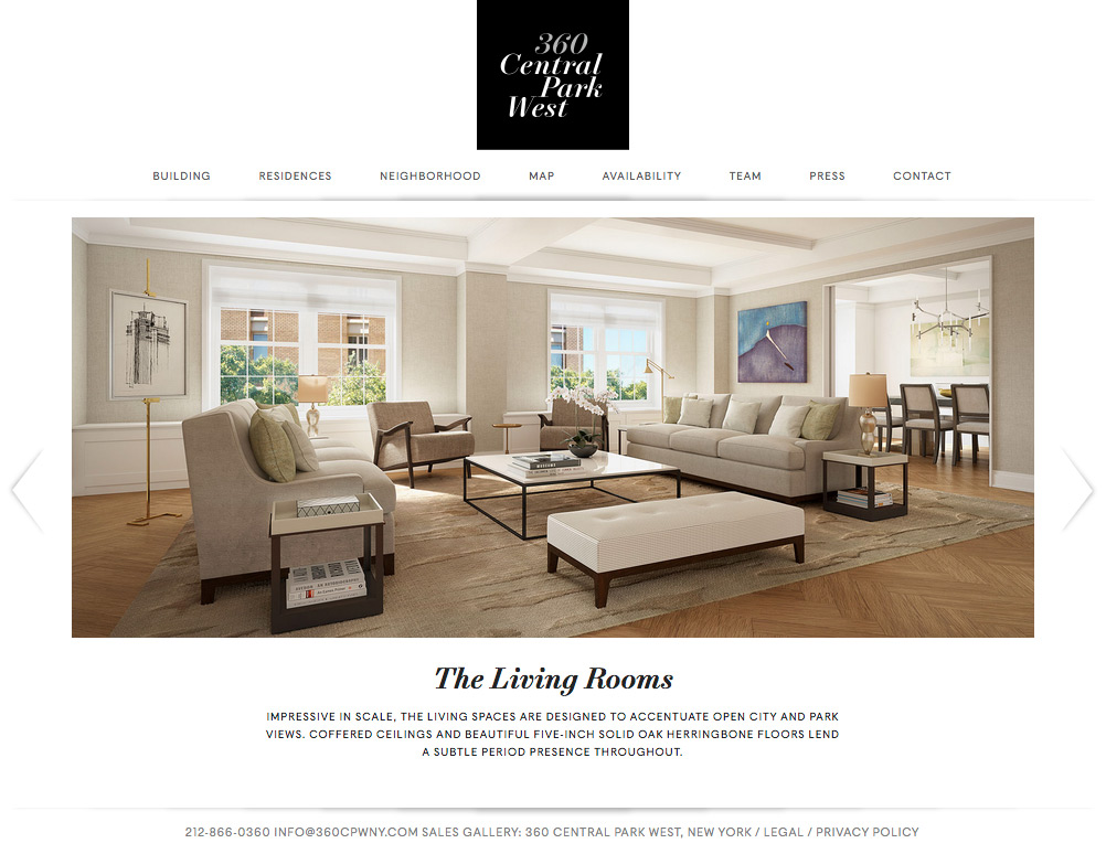 360 Central Park West home page