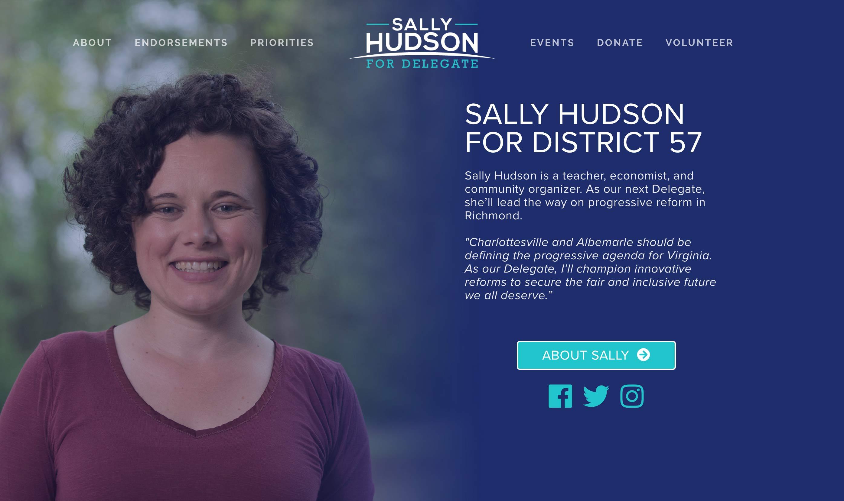 Sally Hudson campaign website