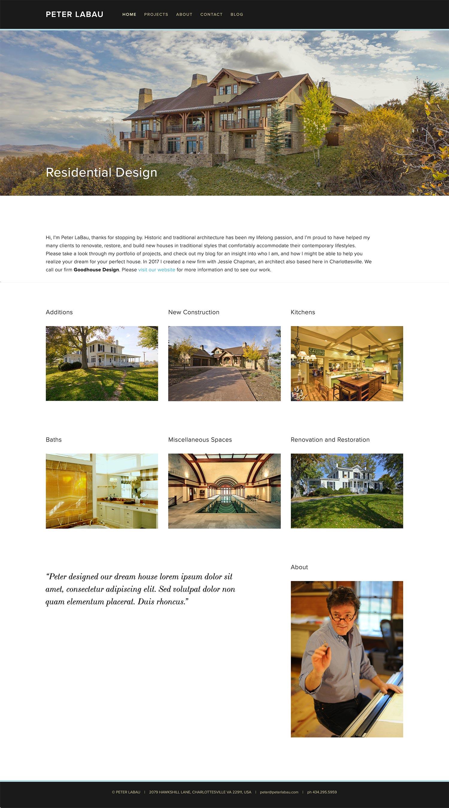 Peter LaBau website redesign